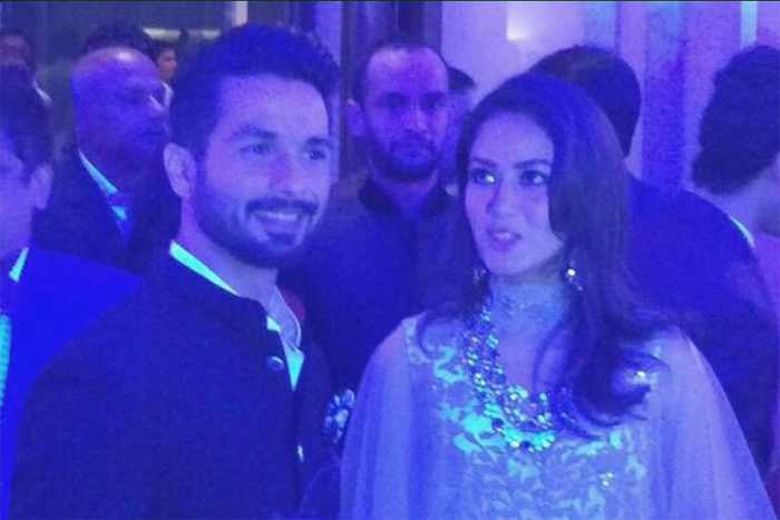 Shahid and Mira at wedding reception